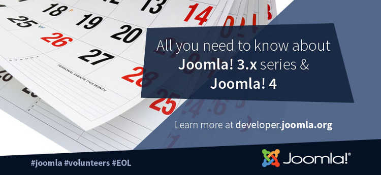 joomla 3 end of support